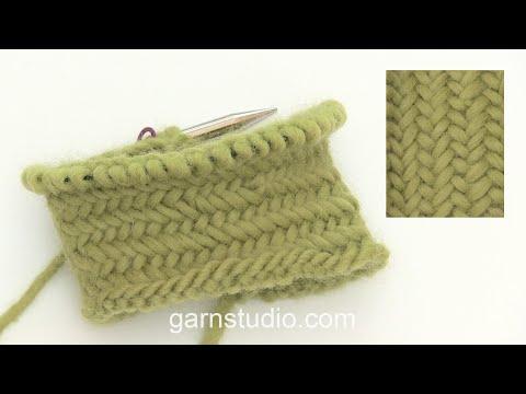 How to work Herringbone stitch in the round
