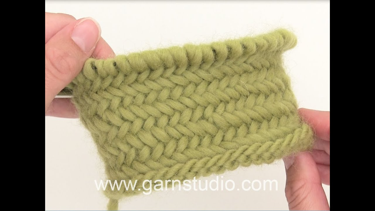 How to work Herringbone stitch in the round - YouTube