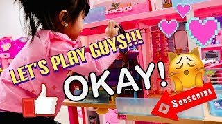 Barbie Dream House   Dollhouse with Pool, Slide & Elevator   Toy Unboxing by Princess Macey J