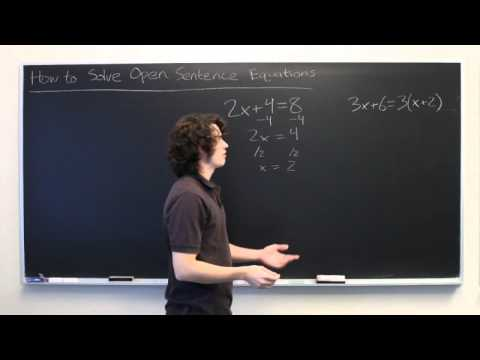 How to Solve Open Sentence Equations
