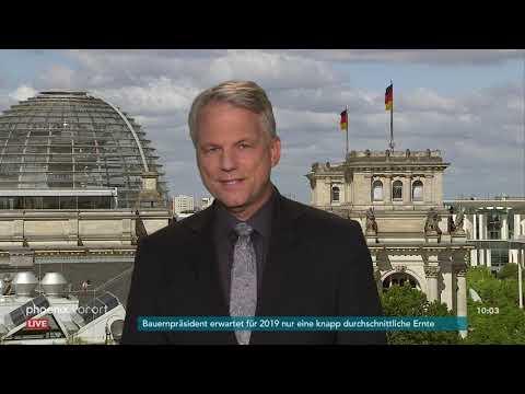 Phoenix-Korrespondent Gerd-Joachim Von Fallois Zur Wahl Des EU-Parlamentspräsidiums Am 03.07.19