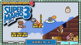 Super Mario Advance 4 - [Super Mario Bros 3] - Playthrough | World 5: The Sky