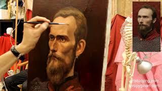 Портрет бородатого мужчины (13) - Обучение живописи. Портрет, 48