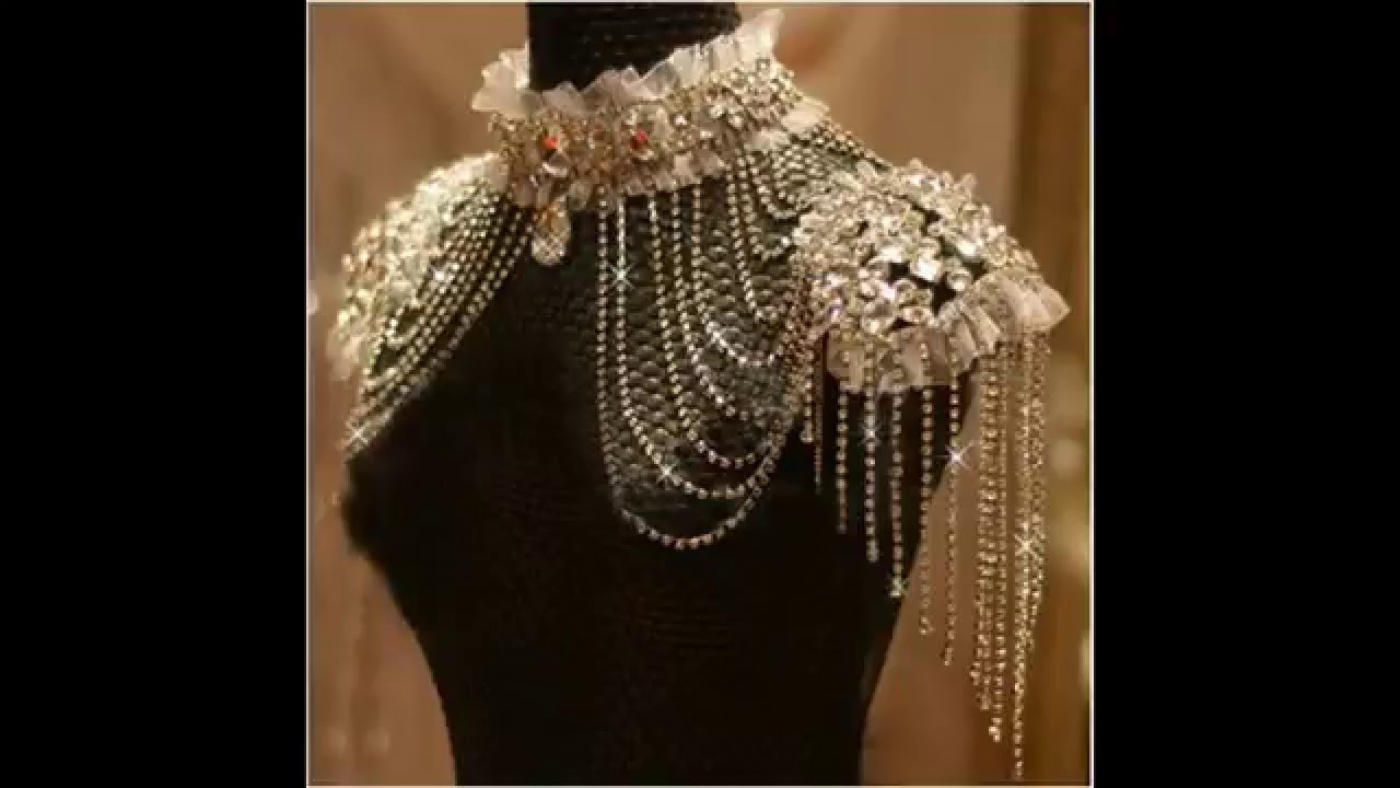 9d6e25f293287 أجمل اكسسوارات الكتف والصدر والظهر للعروس مجموعة أكثر من رائعة شاهديها