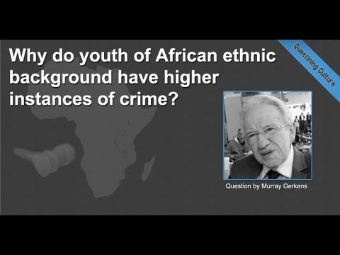 Why do youth of African ethnic background have higher instances of crime?