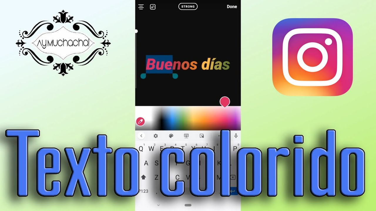Texto colorido en Instagram Stories