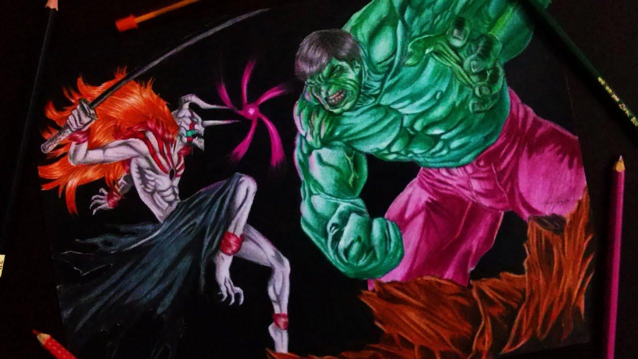Desenhando Hulk vs Ichigo Vasto Lorde - Drawing Hulk vs ...