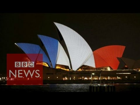 Paris attacks: Buildings lit in solidarity with France - BBC News
