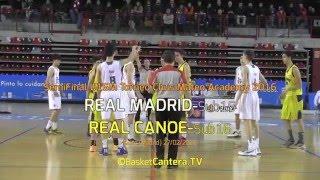Gambar cover U16M - Torneo Chus Mateo Academy: REAL MADRID-Sub15  Vs. REAL CANOE (BasketCantera.TV)