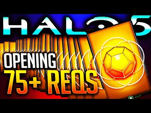 Halo 5 - Opening 75+ Gold REQ Packs ($200+ Worth)