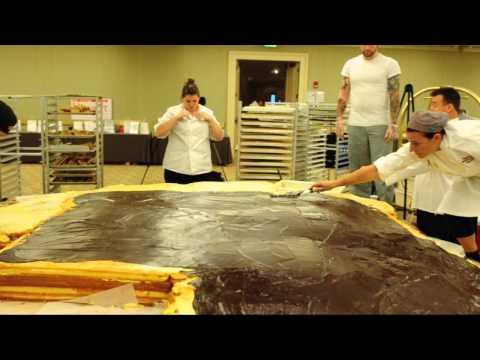 Southern New Hampshire University Builds World's Largest Boston Cream Pie