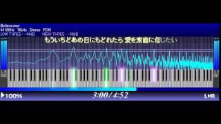 ピアノ弾き語りを見て打ち込みました。 リバーブ、ディレイが深い曲で、...