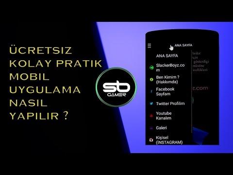 ÜCRETSİZ MOBİL UYGULAMA YAPIMI ! (2016) | Türkçe
