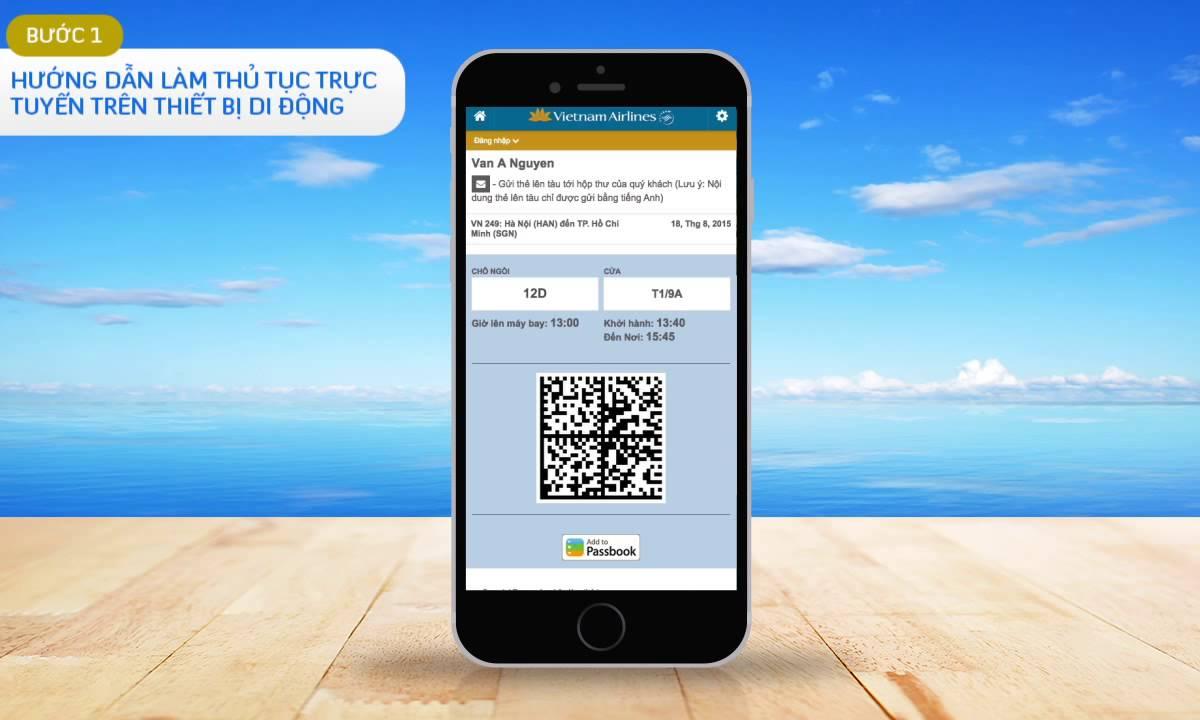 Vietnam Airlines – Hướng dẫn làm thủ tục trực tuyến