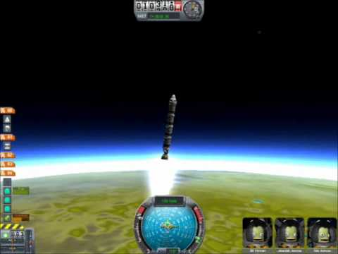 Easy Guide to Orbiting a Rocket In Kerbal Space Program