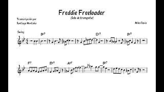 Miles Davis ¨Freddie Freeloader¨ - Trumpet Solo (Transcription C)