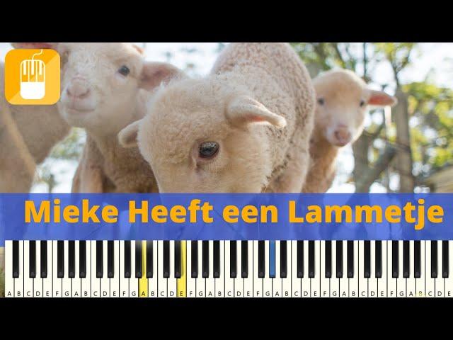 Mieke Heeft Een Lammetje piano tutorial zeer eenvoudig