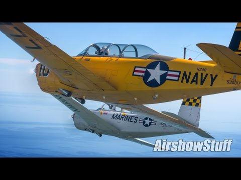 T-34 Mentor Air to Air/Formation Practice Flight - Manitowoc, WI 2016