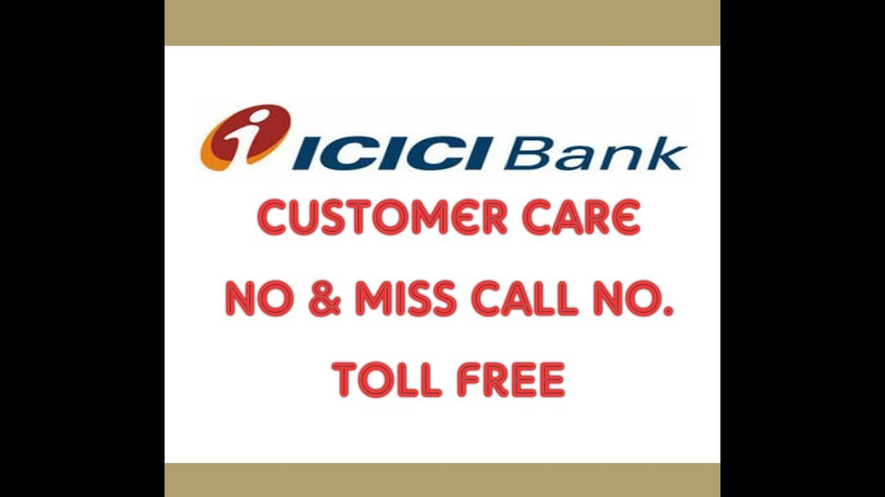 icici toll free customer care number in india