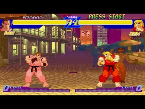 Street Fighter Alpha 1 [Saturn] - Play As Dan