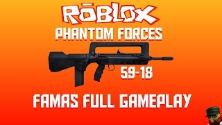 [ROBLOX] Phantom Forces - FAMAS Full Gameplay (59-18)