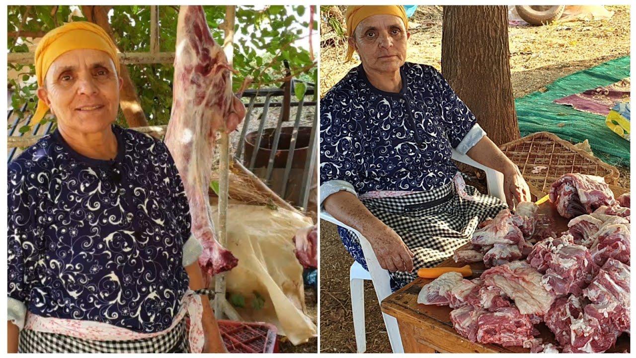 طريقة تقطيع لحم الخروف بطريقة لالة حادة