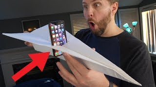 I Made Giant Paper Airplane for My iPhone XS - Did It Survive? lol