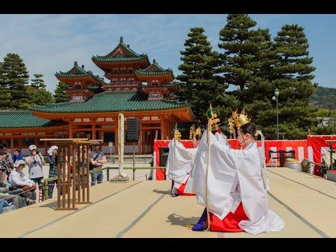 Kagura Dance at Heian Jingu in Kyoto