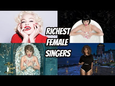 Top 20 Richest Female Singers of All Time (1958 - 2018)