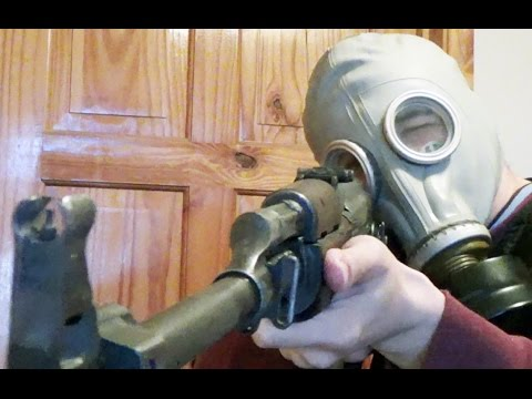 GP5 and M41 Gas Mask RPK Iron Sight test