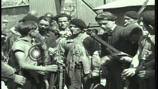 French Resistance Maquis Members Distribute And Examine Weapons In Chateaudun, Fr...hd Stock Footage
