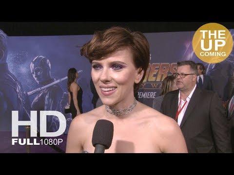 Scarlett Johansson interview Avengers Infinity War premiere