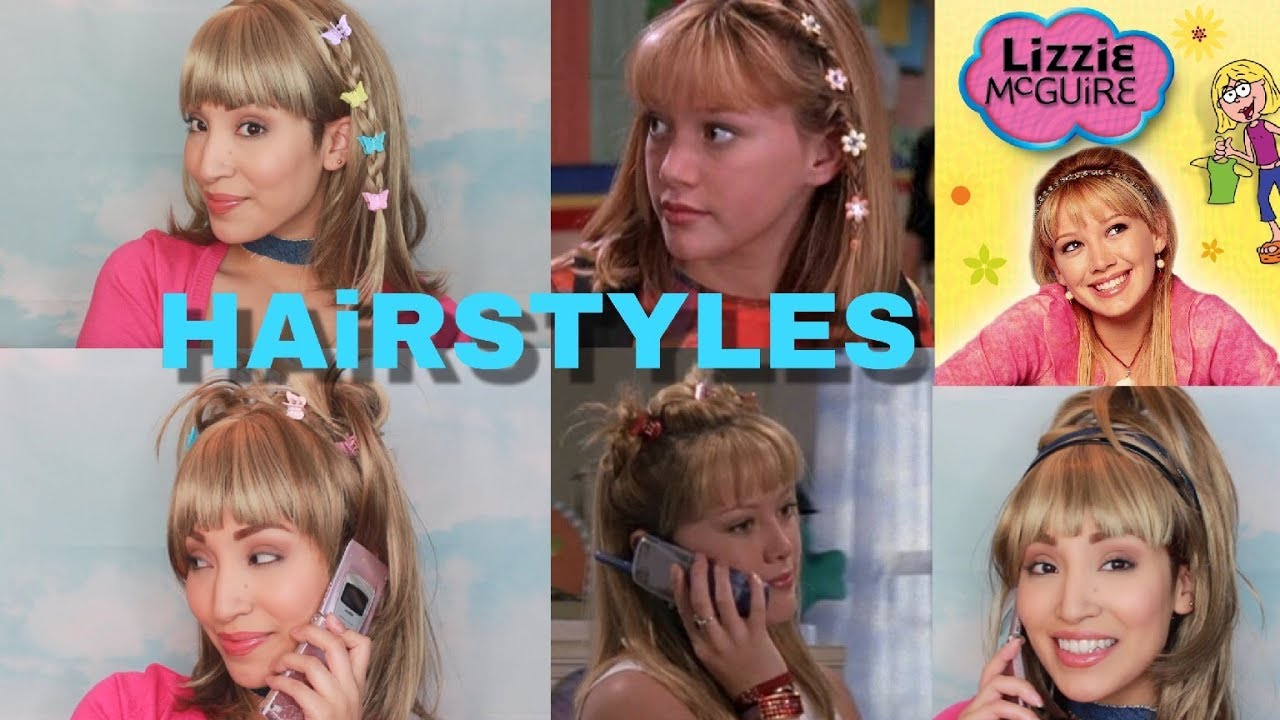 lizzie mcguire inspired hairstyles tutorial | hilary duff early 2000s