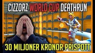 TÄVLAR OM 30 MILJONER KRONOR I CIZZORZ WORLD CUP DEATHRUN - Fortnite på svenska