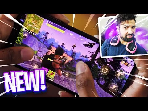 Fortnite: Battle Royale PHONE Gameplay - HOW IT WORKS!