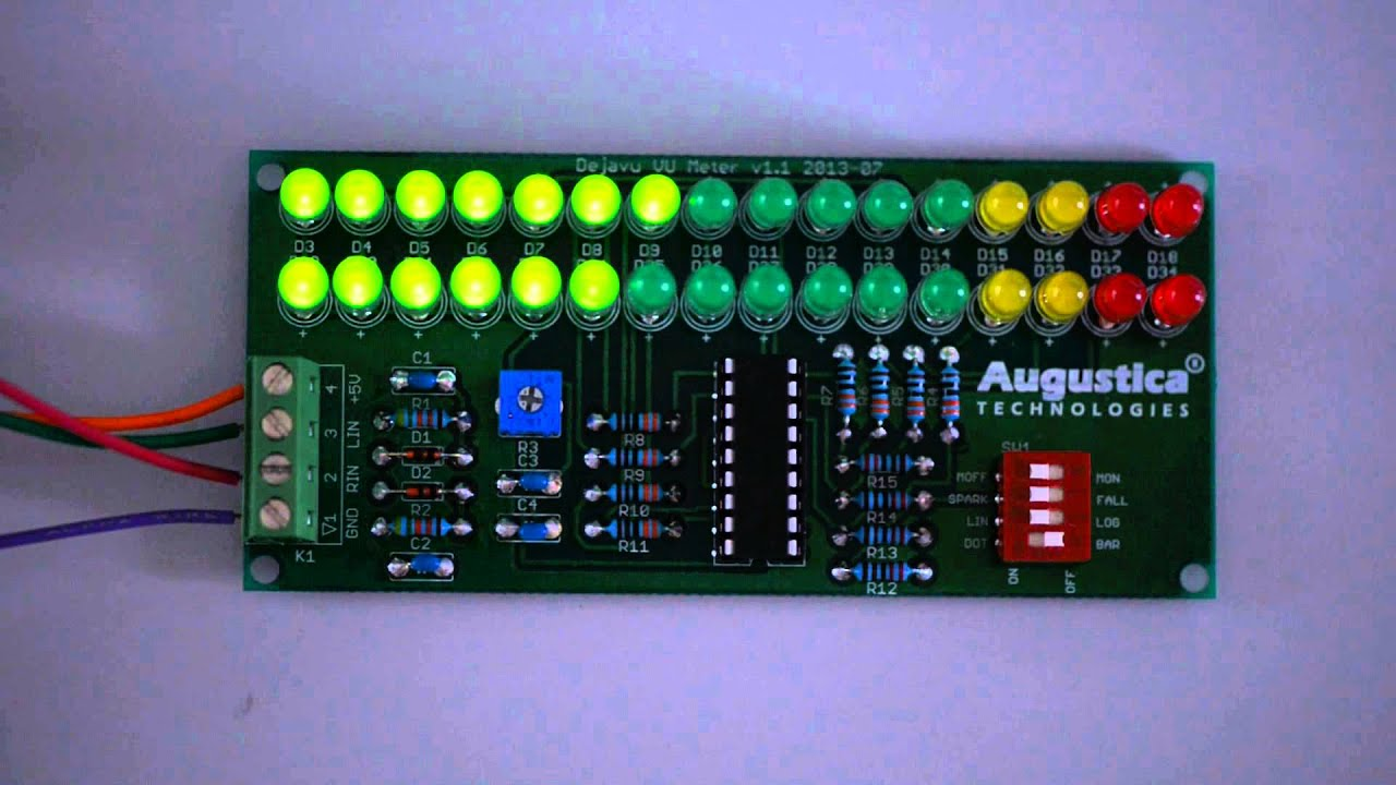 Audio Vu Meter By Lm324