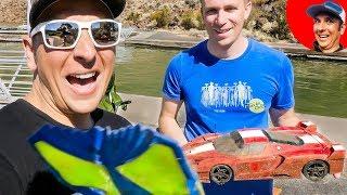 Found R/C Ferrari and Cell Phone in Lake {Treasure Hunting}