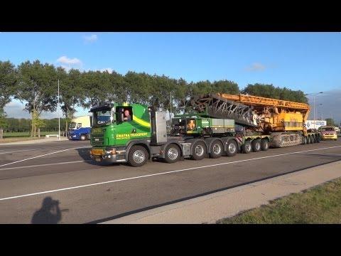 Scania R V8 Zwatra 10x4 Heavy Haulage Truck, Nooteboom Pendel X Trailer