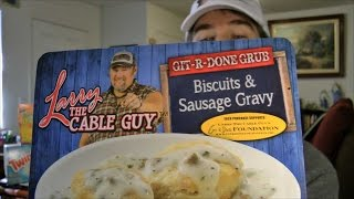Larry The Cable Guy Biscuits And Sausage Gravy Review (eating The Dollar Stores, Ep #11)