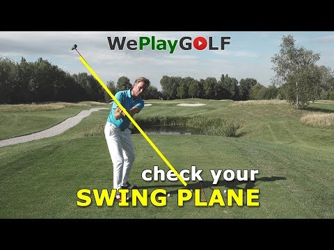 Easy trick to check your swing plane!