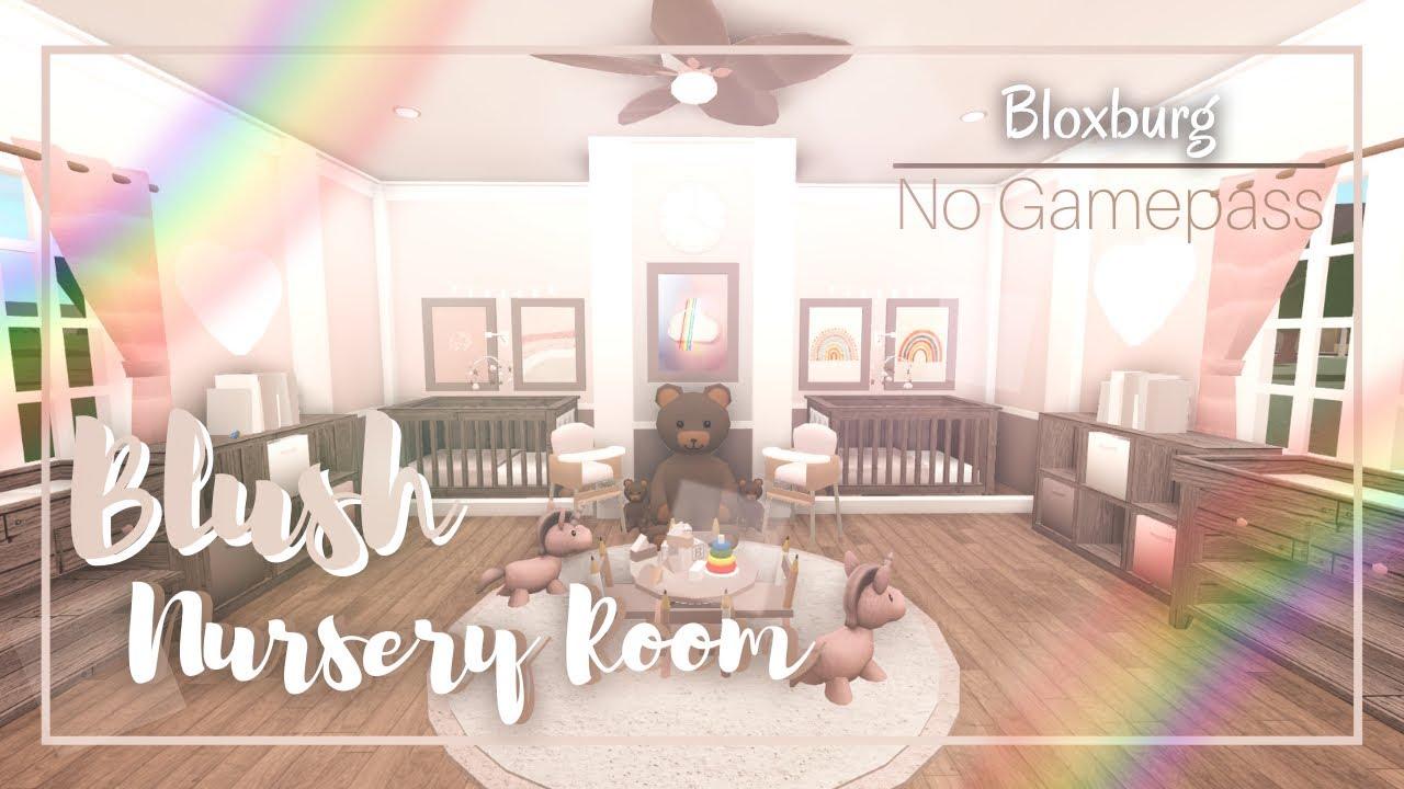 """Roblox Bloxburg: No Gamepass """" Blush Nursery Room """" Speedbuild + Tour   Minami Oroi - YouTube"""