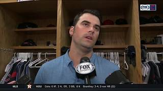 Adam Plutko cautious about pitching to scoreboard, excited about Tribe | INDIANS-RANGERS POSTGAME