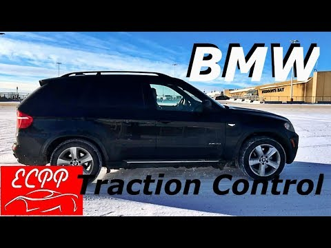 BMW Traction Control in Snow Demonstration | WARNING !