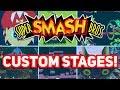 NEW Custom Levels in Super Smash Bros.!!! [Rainbow Road, Mario's Head, Temple]