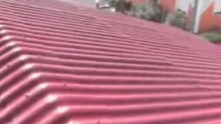 spray painting   asbestos roof