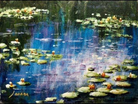 Malen Wie Die Grossen Kunstler Monet S Seerosenteich Teil 1 2
