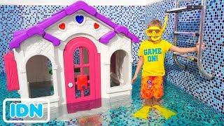 Vlad dan Nikita Playhouse di kolam renang