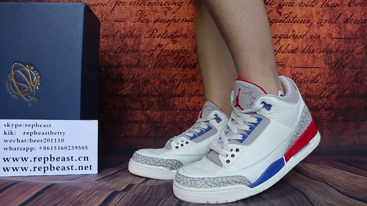 "003929a9dbdd4e Air Jordan 3 ""International Flight"" on feet - YouTube"