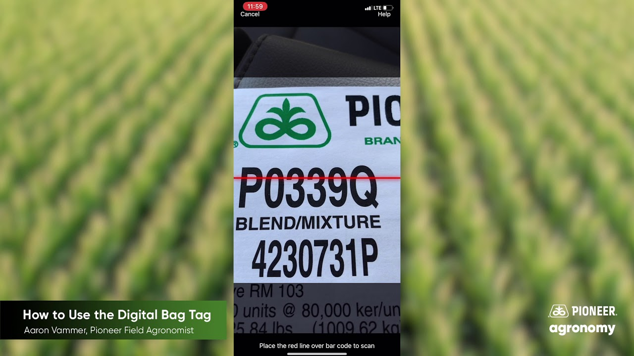 Pioneer Seeds App: How to Use the Digital Bag Tag