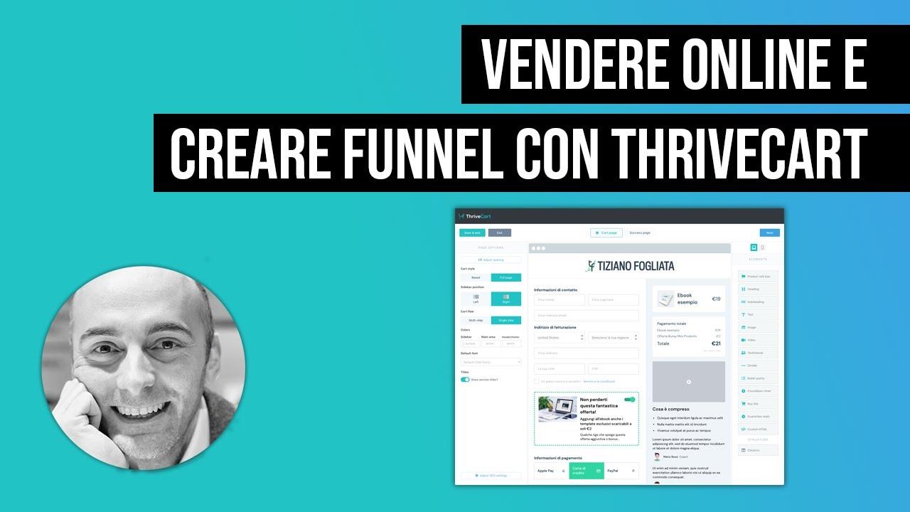 Vendere online e crea funnel di vendita con ThriveCart
